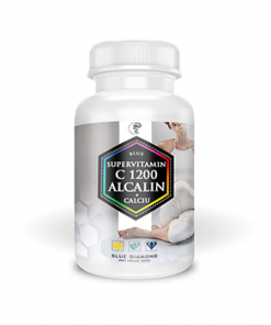 Vitamina C 1200 Alcalin+Calciu – din ascorbat de calciu si maces