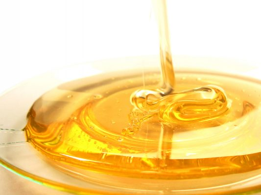 miere cu fulgi de aur alimentar