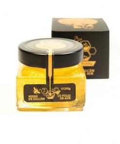 miere cu fulgi de aur alimentar, miere bio, miere ecologica